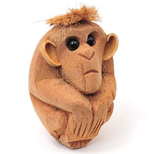 Song of India Hand Carved Natural Coconut Monkey