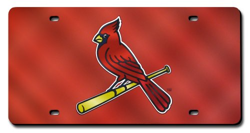 Cardinals Laser - MLB St Louis Cardinals Laser-Cut Auto Tag (Red Mirror)