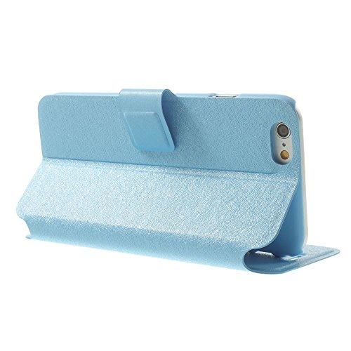 Apple iPhone 6/6S Sac Case Stand Art Carte Étui Poche étui turquoise decui Turquoise Étui de protection en cuir PU