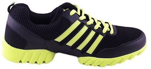 Dance Fitness Sneakers - Nene's Collection - Dance Legend Series Sneakers (7, Neon Yellow)