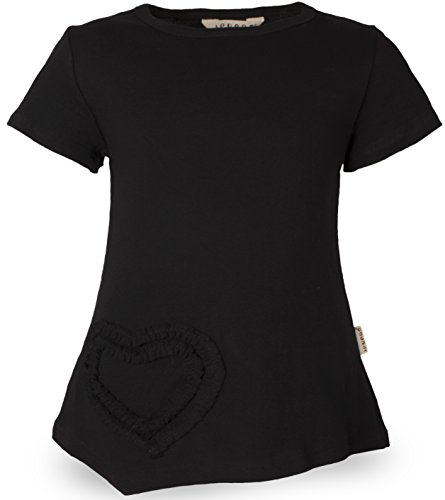 Black Tee 8 Cap - Ipuang Big Girls Heart Shaped Casual Cotton Cap Sleeve Tee T Shirt Top Black 8