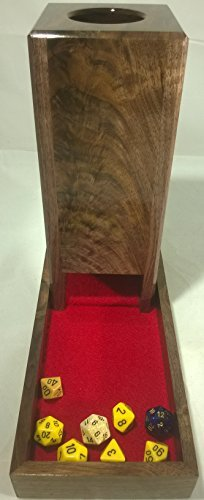 Dice Tower and Tray - Figured Walnut/Burl - Handcrafted in Tennessee