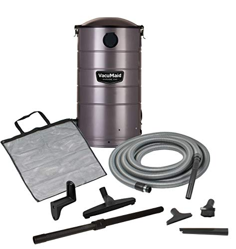 (VacuMaid GV30 Wall Mounted Garage Vacuum with 30 ft Hose and)