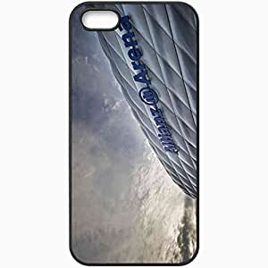 Personalized iPhone 5 5S Cell phone Case/Cover Skin Allianz Arena Munich Germany Stadium Bavaria Black