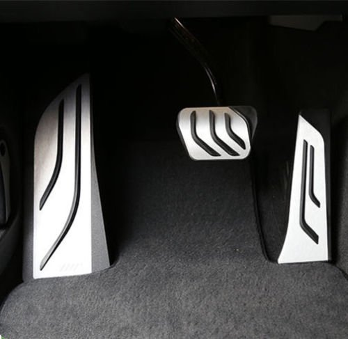 No Drill Gas Brake Pedal Stainless Steel Anti-slip Accelerator Brake Pedal Cover Fits F10 F11 523 528 535 5 series X3 2015 7 series 730Li 740Li 750Li 760Li LHD NEW AT