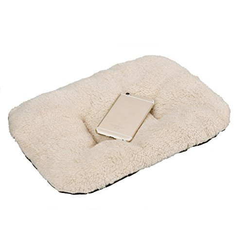 Fleece Pet Pad (Malloom Dog Thick Fleece Cushion Pad Cat Kennel Sleeping Comfort Mat Dog Crat... )