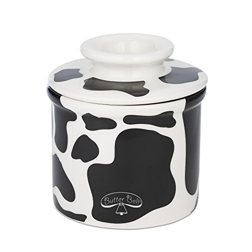 The Original Butter Bell Crock by L. Tremain, Specialty Crocks, Cow Pattern - Black and (French China Patterns)
