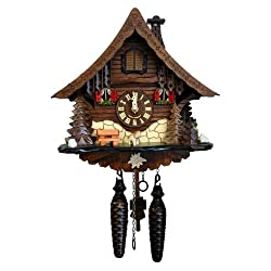 Alexander Taron 471QM Engstler Battery-Operated Cuckoo Clock-Full Size-9.75 H x 10 W x 6.5 D, Brown