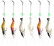 Artificial Luminous Shrimp Fishing Lure with Sharp Hook/Soft Silicon Lure/Sharp Shrimp Tackle Hook.(4-6pcs/lot