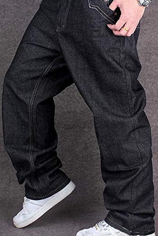 WBUBUJ klasyczne męskie spodnie dżinsy z nadrukiem w stylu vintage: Odzież