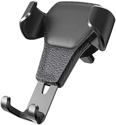 車の電話ホルダー、空気出口ユニバーサル多機能重力サポートナビゲーションフレーム (色 : ブラック)