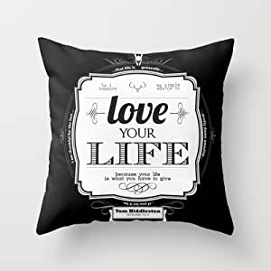 Amazon.com: Society6 - Love Your Life Throw Pillow by Hash: Home & Kitchen