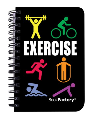BookFactory Fitness Journal / Workout Journal / Exercise Journal / Log Book,...
