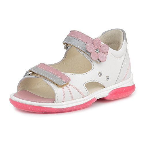 Memo Jaspis 3AB Girls' Corrective Orthopedic Extra Depth Sandal, 27 (10 Little Kid) by Memo