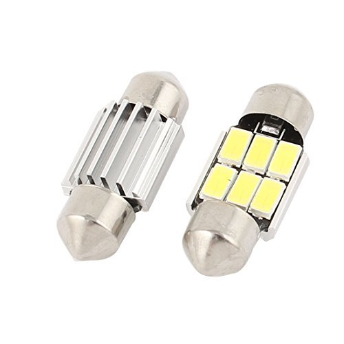 Amazon.com: eDealMax 2 piezas DE 31 mm 6-SMD 5630 LED Canbus del Adorno de la bóveda de la luz Blanca 3021 Interna: Automotive