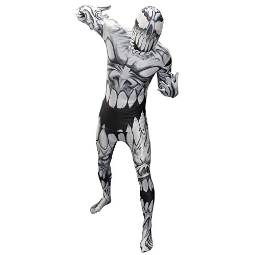 Rangers Morphsuit Black Ranger Power (Morphsuits Monster Mouth, Black/Grey/White, Plus)