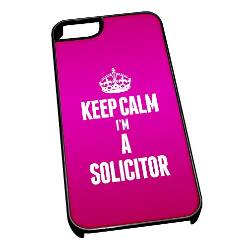 Nero cover per iPhone 5/5S 2681 rosa Keep Calm I m A Solicitor