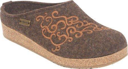 Haflinger Womens Laine Symphonie Chaussures De Sabot Chocolat