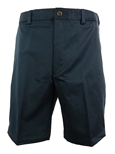 Roundtree & Yorke Big & Tall Men's Easy Care Flat Front Shorts (52B, Navy) by Roundtree & Yorke