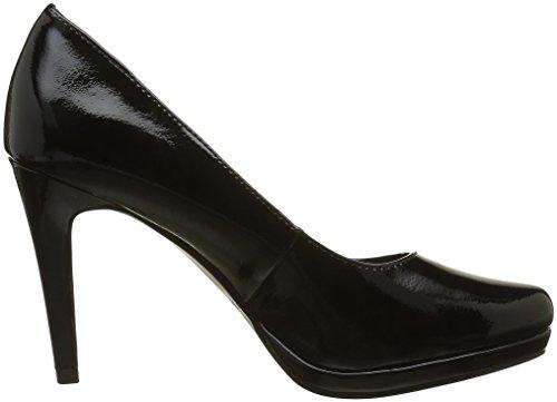 Tamaris 22448, Zapatos de Tacón para Mujer Negro (BLACK PATENT 018)