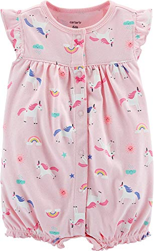 Carter's Baby Girls Unicorn Snap-Up Romper 18 Months Pink Multi -
