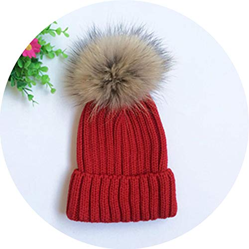 Pom Poms Women Winter Hats Casual Beanies Crochet Knitting Hat Cap Hat Bone Feminino,Red