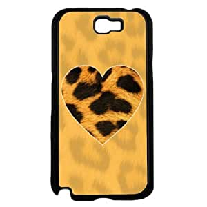 Leopard Animal Print Heart Phone Case Back Cover (Galaxy Note 2 - Plastic)