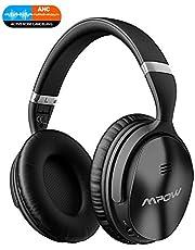 Mpow H5 Auriculares Bluetooth Inalámbricos, 30 Horas de Juego, Cascos Cancelacón Activa de Ruido(ANC), Hi-Fi Sonido Estéreo, Auriculares Bluetooth Diadema con Almohadillas de Proteína Cómodas-Plata