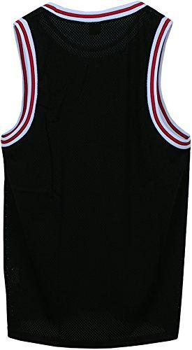 b9fe1a1e5b66 Angel Cola Men s Blank Plain Mesh Tank Top Basketball Jersey Black S
