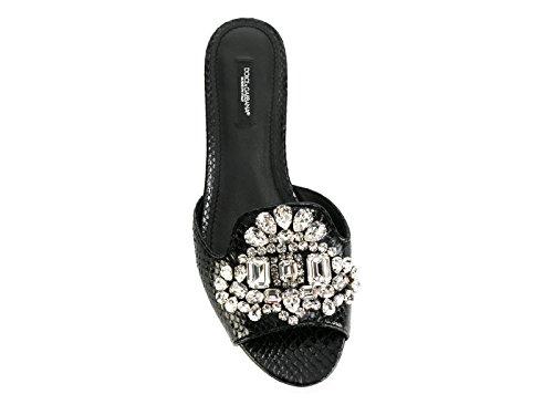 Dolce En Noir Gabbana E Sandales Cuir Cq0130ai34780999 Femmes Des gqgUwrf