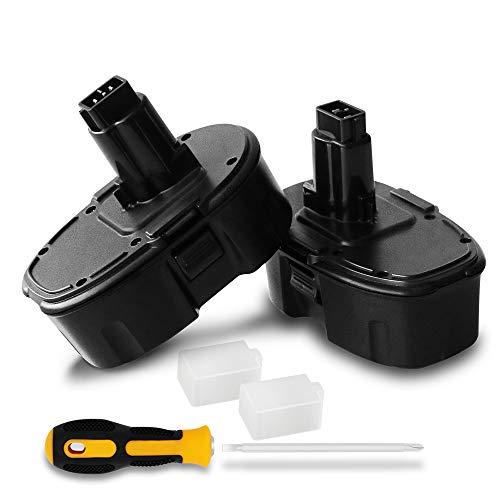 2 pack 3.6Ah Replacement for Dewalt 18v Battery XRP DC9096 DE9039 DC9099 DE9095 DE9096 DE9098 DW9095 DW9096 DW9098 DE9503 NI-MH Cordless Tools Battery ()