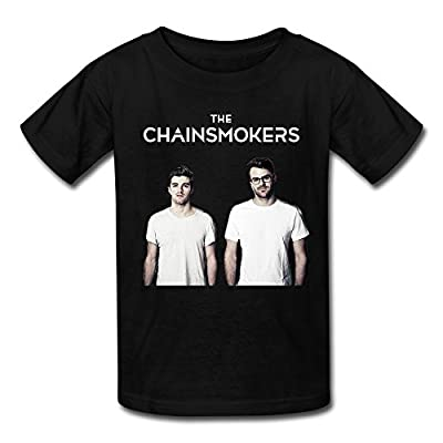 Youth The Chainsmokers Band Art Logo T-Shirt - Black
