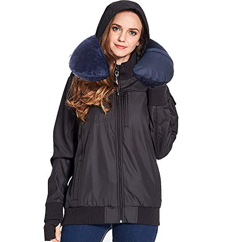 BOMBAX Women Travel Jacket 10 Pocket Flight Bomber Windbreaker Coats Outwear