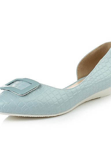 Oficina Bailarinas Zapatos Azul azul bajo piel tacón guantes LÄSSIG mujer Guantes Vestido para Jane shangyi azul Mary charol planas puntiaguda damas Blanco OwU1SU6xZn
