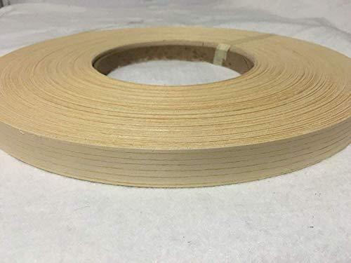 "White Ash 13/16"" X 250 Wood Veneer Edgebanding Preglued Roll. Unfinished"