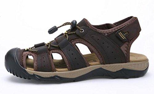 Dadawen Mens Sandali Sportivi Trail Outdoor Water Shoes Dark Brown (b)