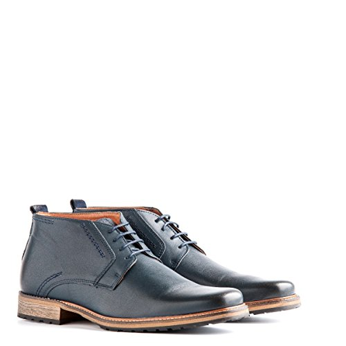 Travelin London Leather Chukka Boots | Schnürhalbschuhe Herren | Freizeitschuhe Hochzeitschuhe | Business Schuhe Anzugschuhe | Lederschuhe in Blau 46 EU