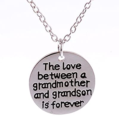 The Love Between Grandmother and Grandson Is Forever Pendant Necklace