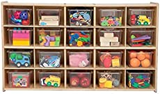 contender kids home school furniture c14501 20 tray storage with translucent trays