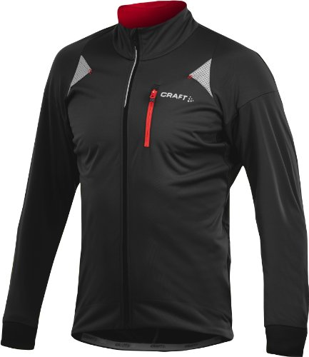 Craft Performance Bike (Craft Men's Performance Bike Storm Jacket, Black/Bright Red, Large)