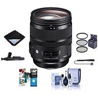 Sigma 24-70mm F2.8 DG OS HSM IF ART Lens for Sigma Digital Cameras - Bundle With 82mm Filter Kit, Lens Wrap, Cleaning Kit, Capleash II, Lenspen Lens Cleaner, Software Package