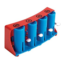 Schylling Coin Changer Toy 44 A classic coin changer just like to ones used by street vendors and the ice cream truck Helps teach sorting, counting, arithmetic and making change 4 barrels for pennies, nickels, dimes and quarters; easy to fill and each has a lever to dispense the coins