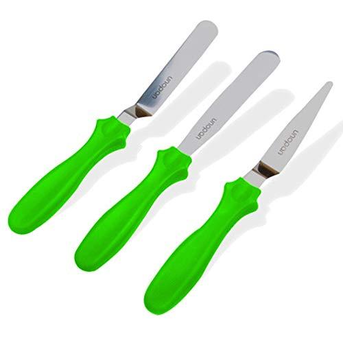 3pcs set  Angled Icing Spatula Set Stainless Steel Kitchen Cake Spatula Variety