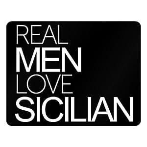Idakoos Real men love Sicilian - Languages - Plastic Acrylic