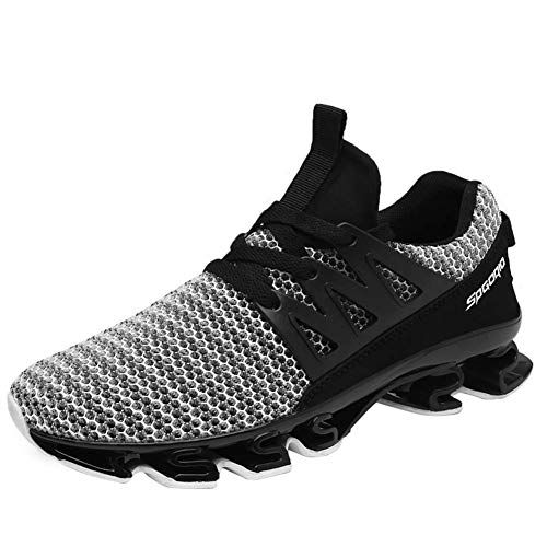 Wander G Mens Casual Walking Shoes Blade Outdoor Sport Sneakers Mesh Breathable Fashion Shoe for Sports Gym Walking (46 EU = Men 12.0 D(M) US, Grey) by Wander G