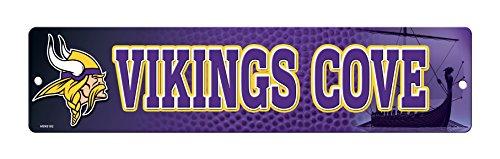 Street Sign Vikings Minnesota - NFL Minnesota Vikings 16-Inch Plastic Street Sign Décor
