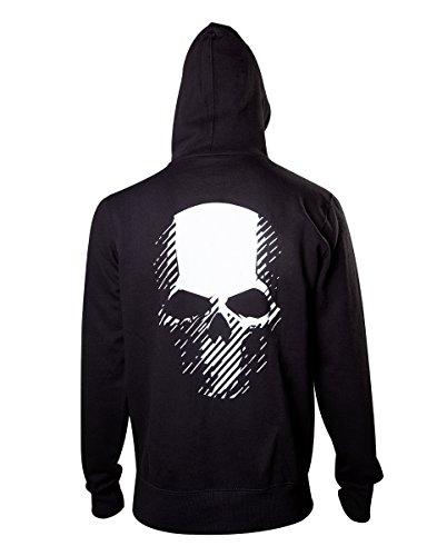Skull Wildlands Ghost Black S Bioworld Back Cappuccio felpa Recon Unisex Tg At Con 4Ttxxgw
