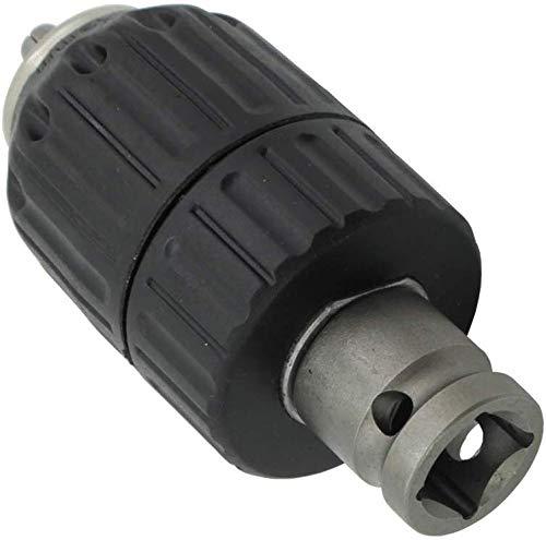 mango SDS-Plus adaptador de rosca 1//2-20UNF mango hexagonal de 1//4 conector hembra cuadrado de manga de 1//2 JT-13A Adaptador de portabrocas sin llave de 2-13 mm