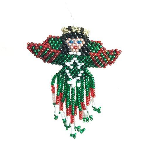 New Fair Trade Handmade Art - Mayan Arts Christmas Ornaments, Beaded Ornamental Figurine, Assorted Styles, Gift Topper Christmas Tree Ornaments, Holiday Decoration, Stocking Handmade in Guatemala (Christmas Angel)