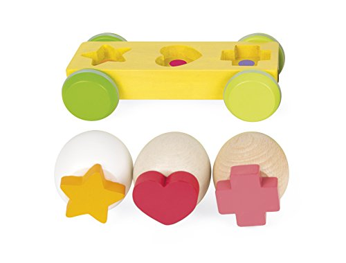 Janod Zigalos Pull Along Tractor Hen Baby Toy by Janod (Image #6)